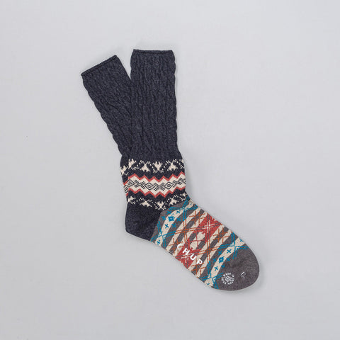 Chup Winter Garden Sock in Navy - Notre