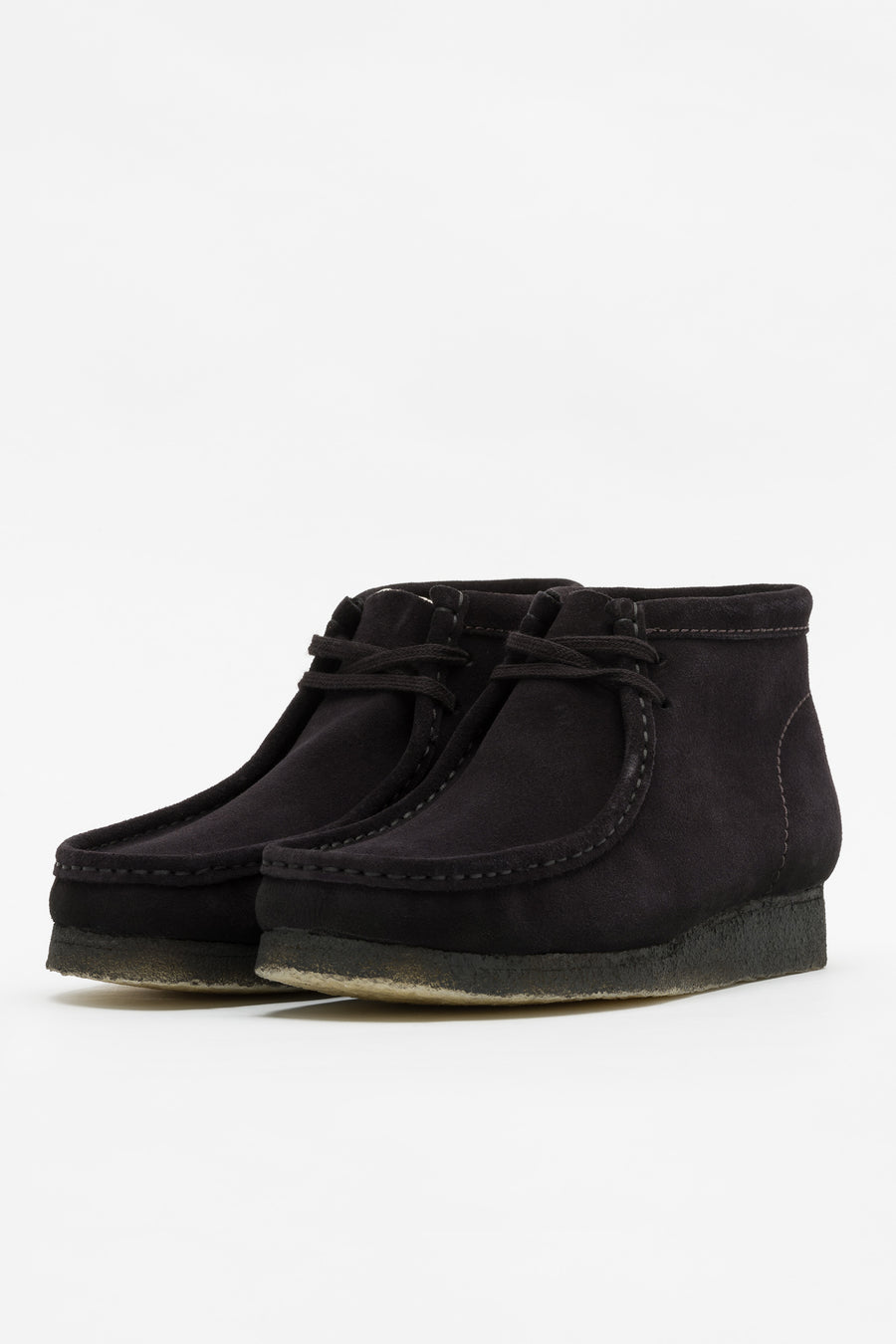 Clarks Wallabee Boot in Black Suede - Notre