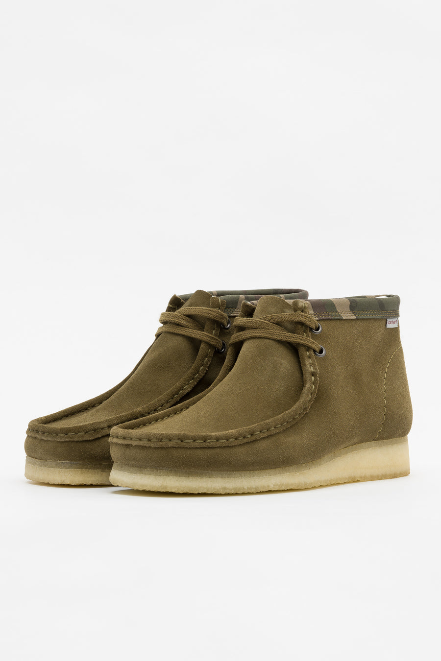 Clarks Carhartt WIP Wallabee Boot in Olive Camo - Notre