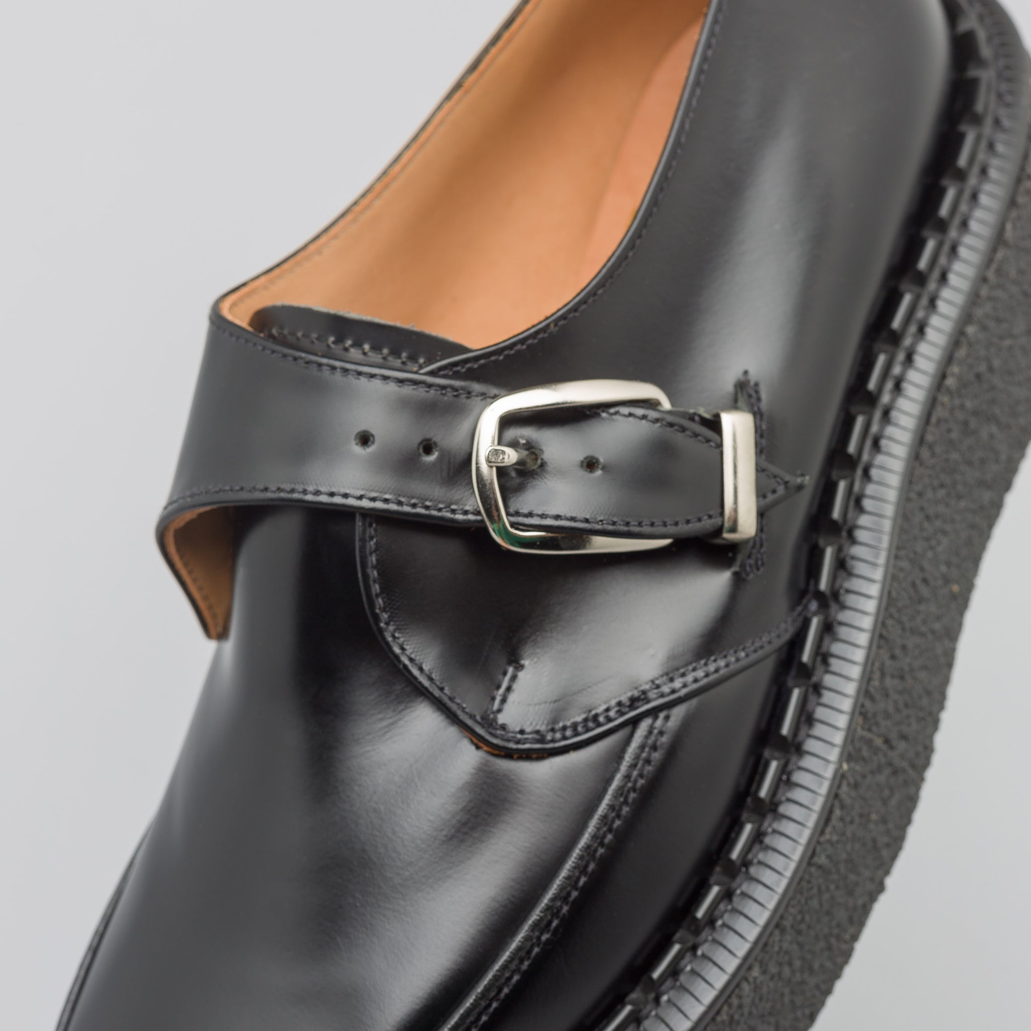 x George Cox Monk Strap Loafer in Black