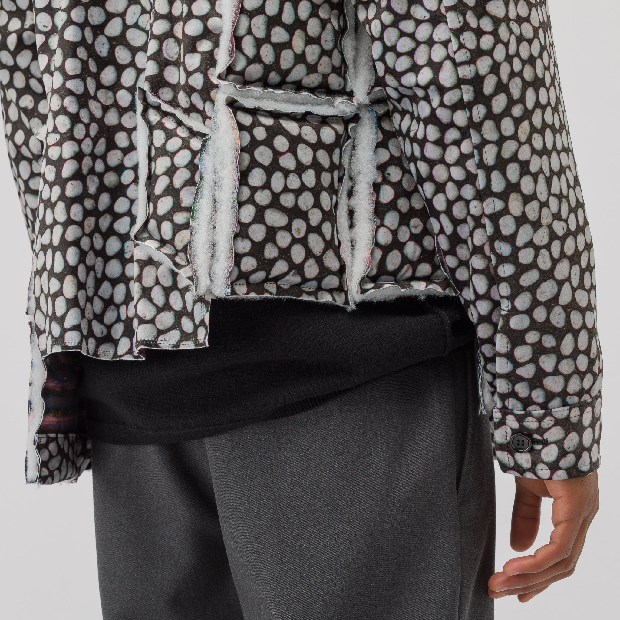 All Over Print Jacket in Black/White