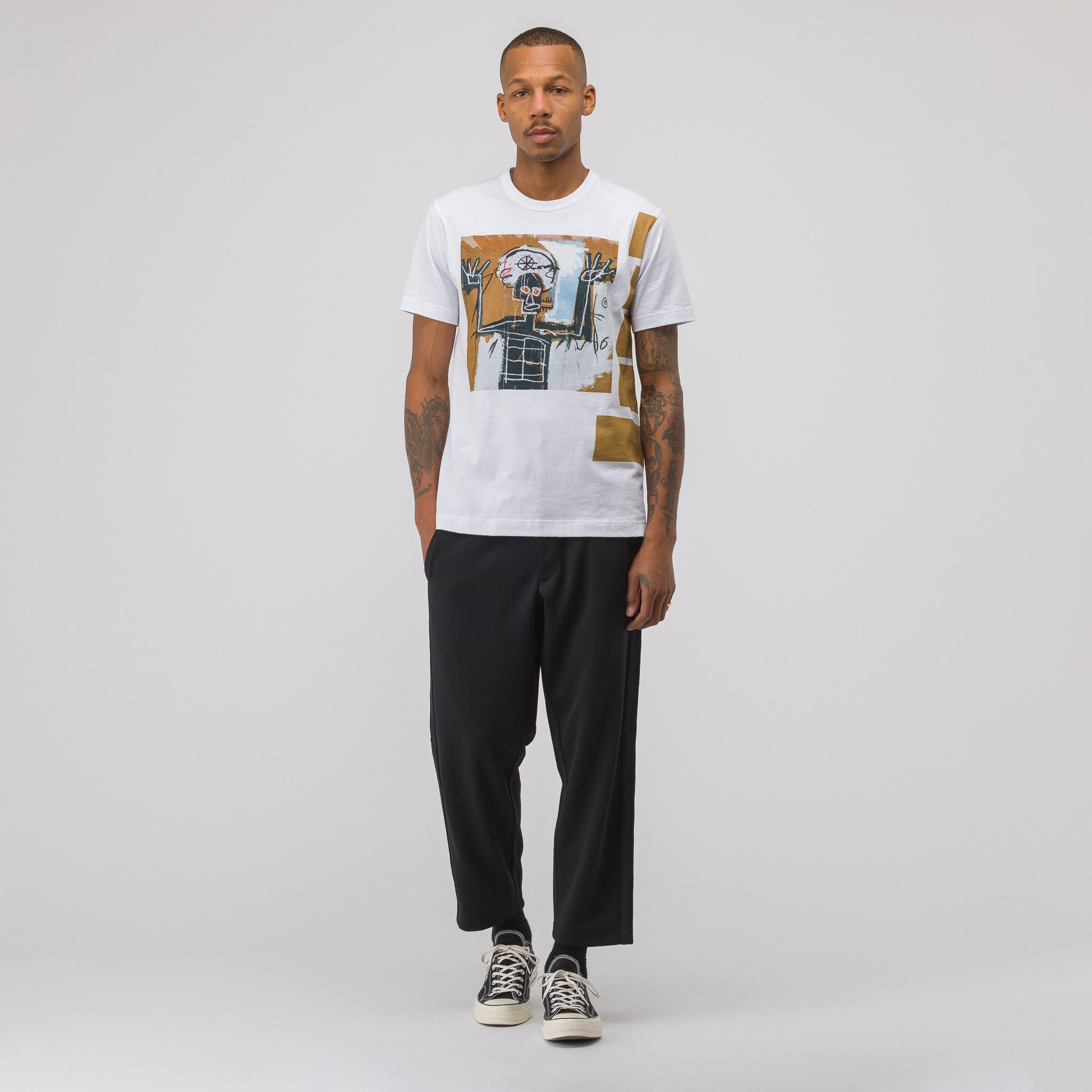 Basquiat T-Shirt Print 2 in White