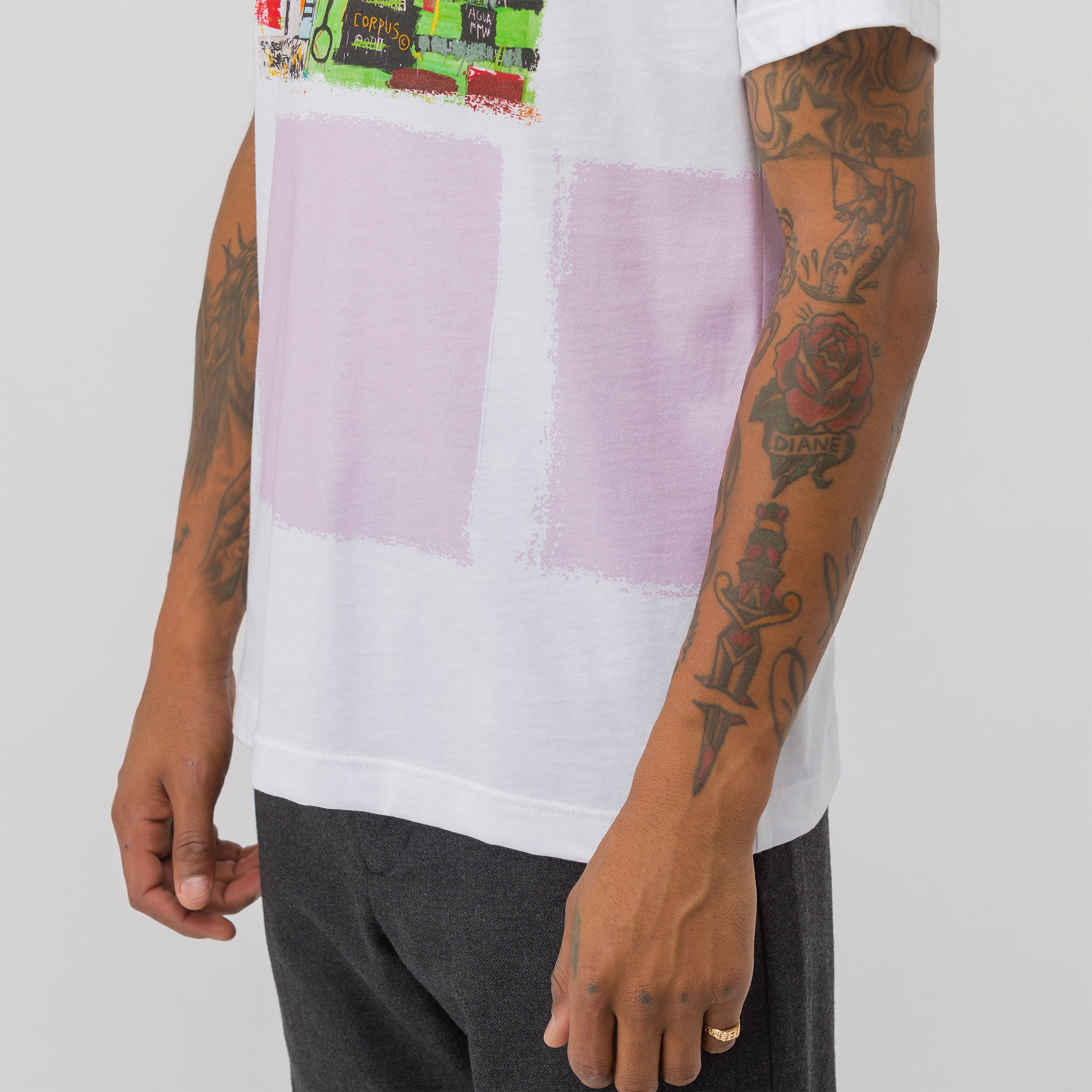Basquiat T-Shirt Print 1 in White
