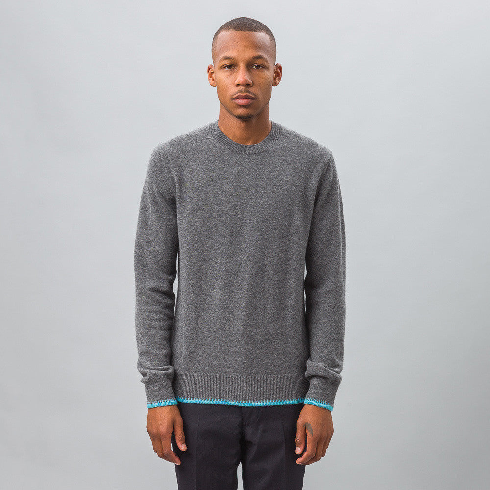 Comme des Garcons Shirt - Knit Crewneck Sweater in Charcoal - Notre - 1