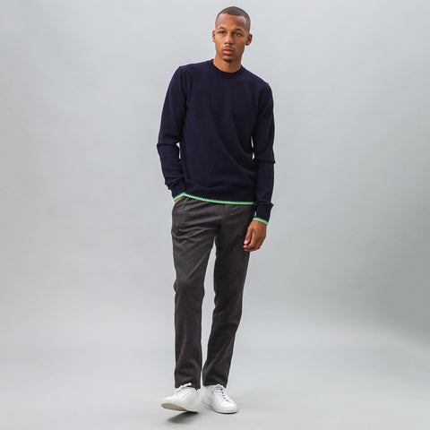 Comme des Garcons Shirt Knit Crewneck Sweater in Navy - Notre