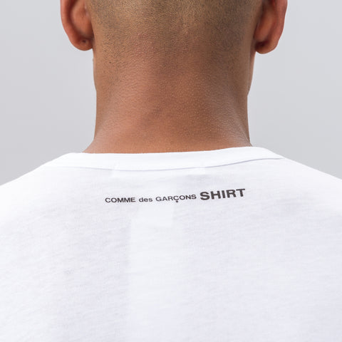 Comme des Garcons Shirt Long Sleeve T-Shirt in White - Notre
