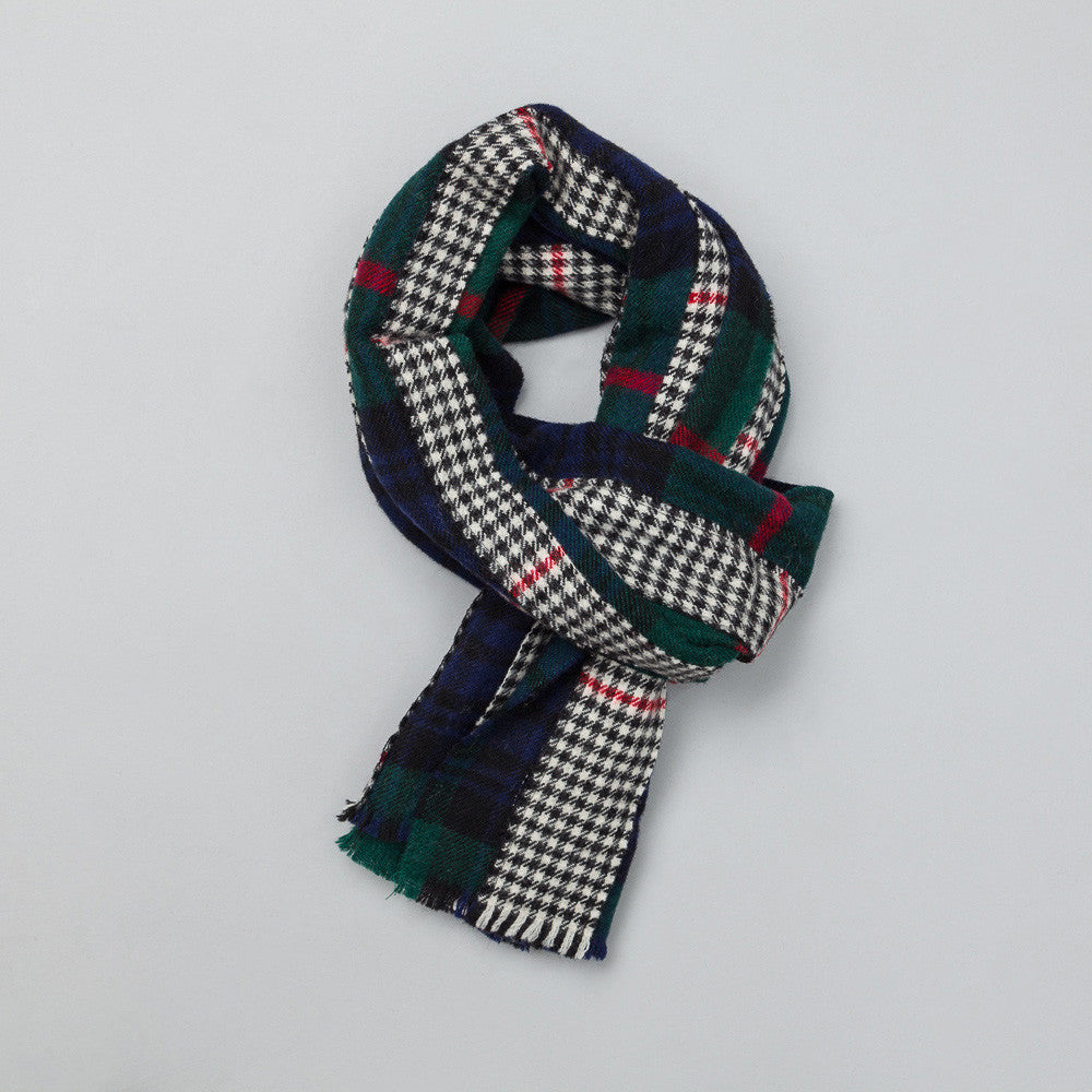 Comme des Garcons Shirt - Scarf in Navy Plaid - Notre - 1