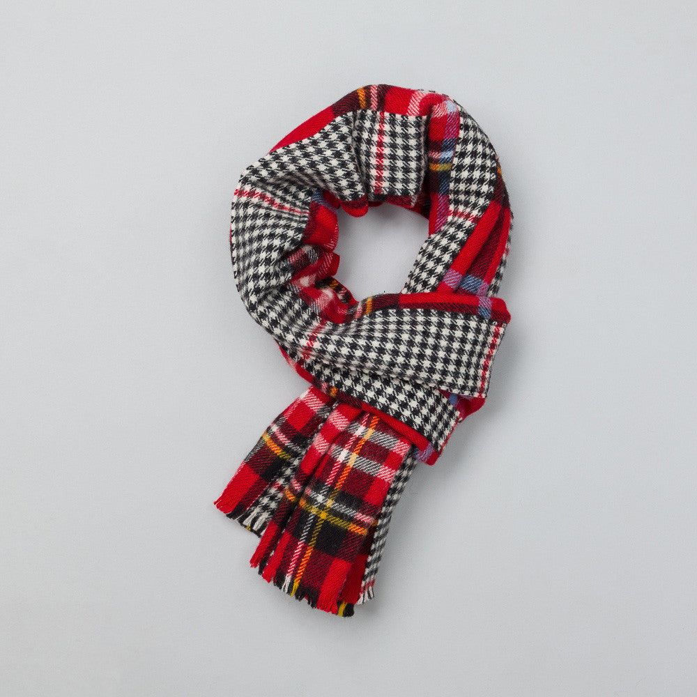 Comme des Garcons Shirt Scarf in Red Plaid | Notre