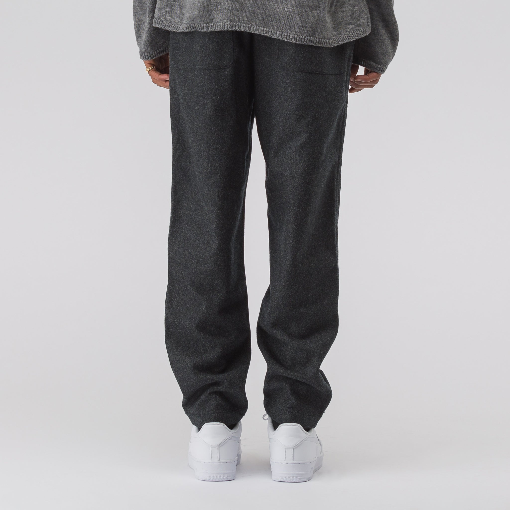 Wool Panel Pant in Charcoal