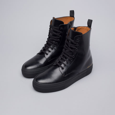 Robert Geller x Common Projects Combat Boots in Black - Notre