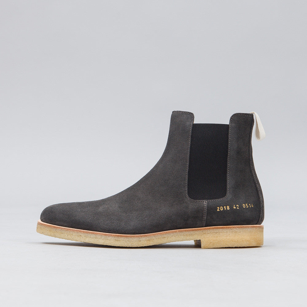Common Projects - Chelsea Boot in Washed Black Suede - Notre - 1