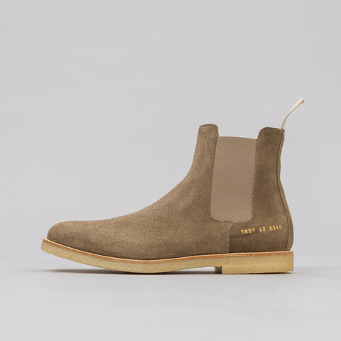 Common Projects Chelsea Boot in Taupe Suede - Notre