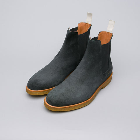 Common Projects Chelsea Boot in Waxed Black Suede - Notre