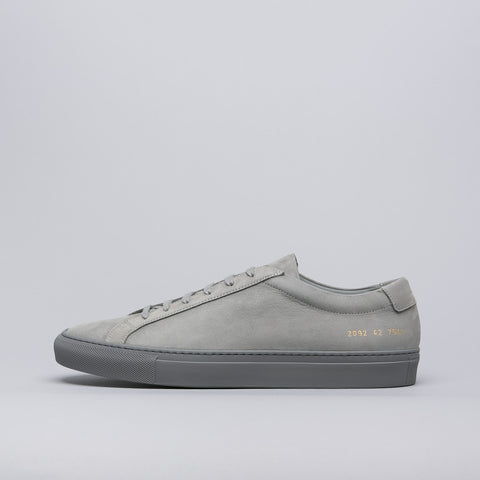 Common Projects Original Achilles Low in Grey Nubuck - Notre