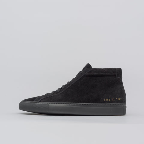 Common Projects Achilles Mid Suede in Black - Notre
