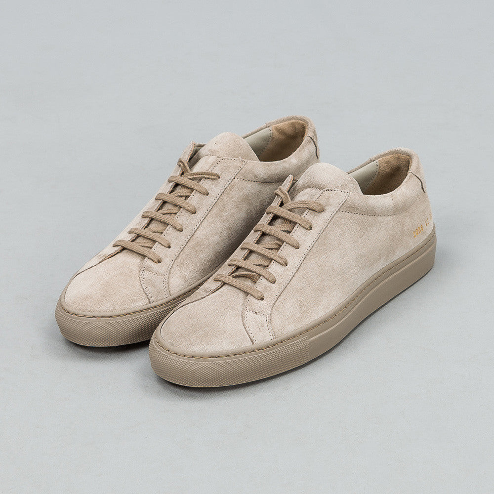 Common Projects Original Achilles Low in Taupe Suede