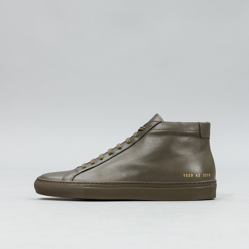 Common Projects - Achilles Mid in Army Green - Notre - 1