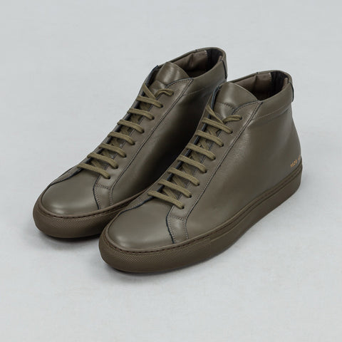 Common Projects Achilles Mid in Army Green - Notre