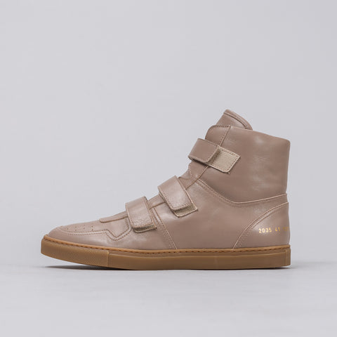 Robert Geller x Common Projects Velcro Hi in Beige - Notre