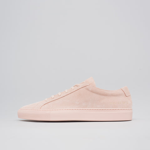 Common Projects Achilles Low Suede in Blush - Notre