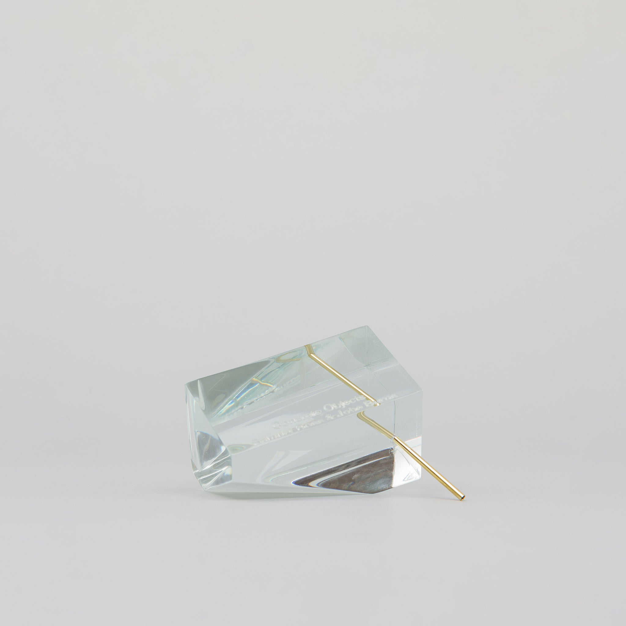 Polygon Incense Burner in Clear