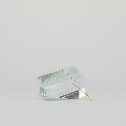 Concrete Objects Polygon Incense Burner in Clear - Notre