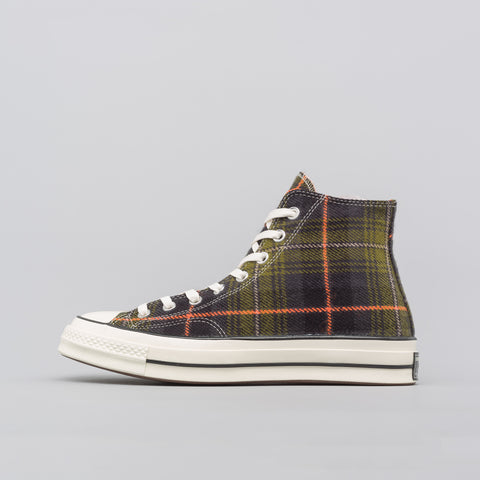 Converse Chuck 70 Hi in Medium Olive/Campfire Orange - Notre