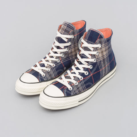 Converse Chuck 70 Hi in Navy/Terracotta Red - Notre