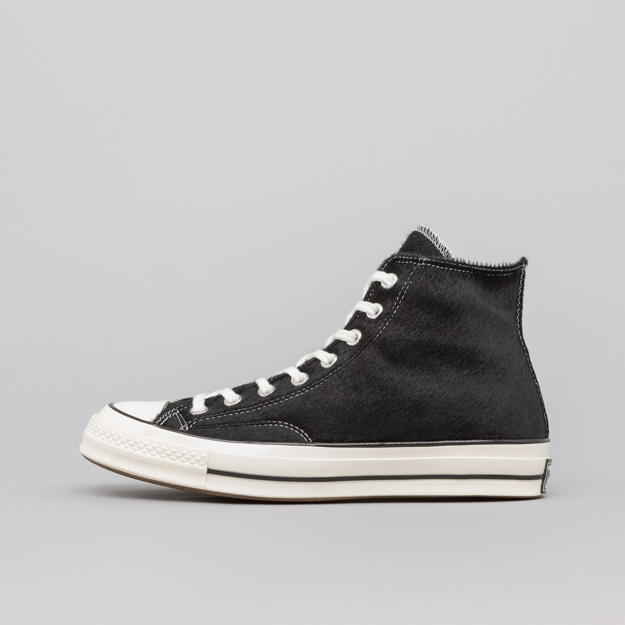 cf7ca0dbb95d43 Converse Chuck 70 Hi Pony Hair in Black