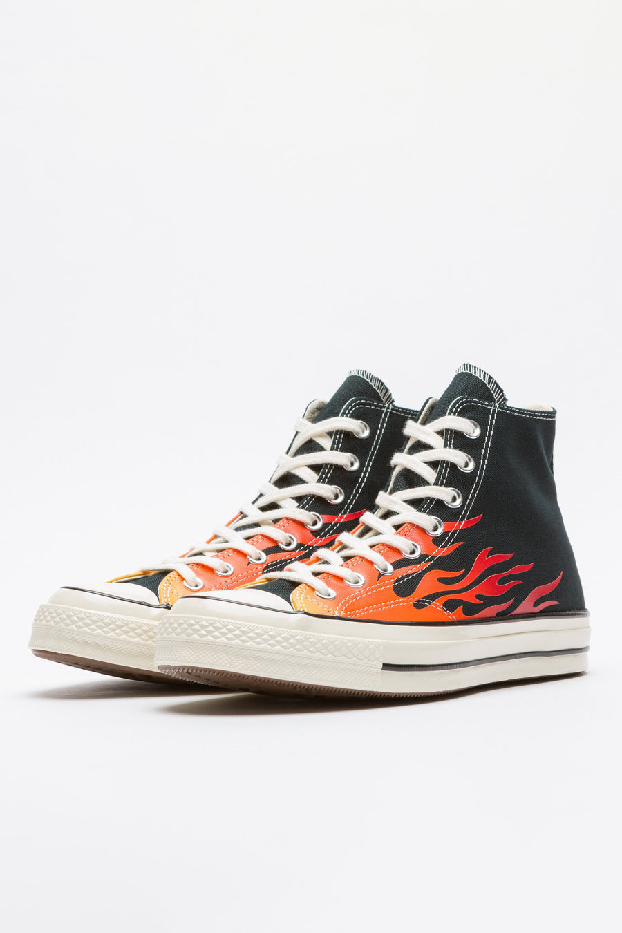 Converse Chuck 70 Hi in Black/Enamel Red/Yellow - Notre