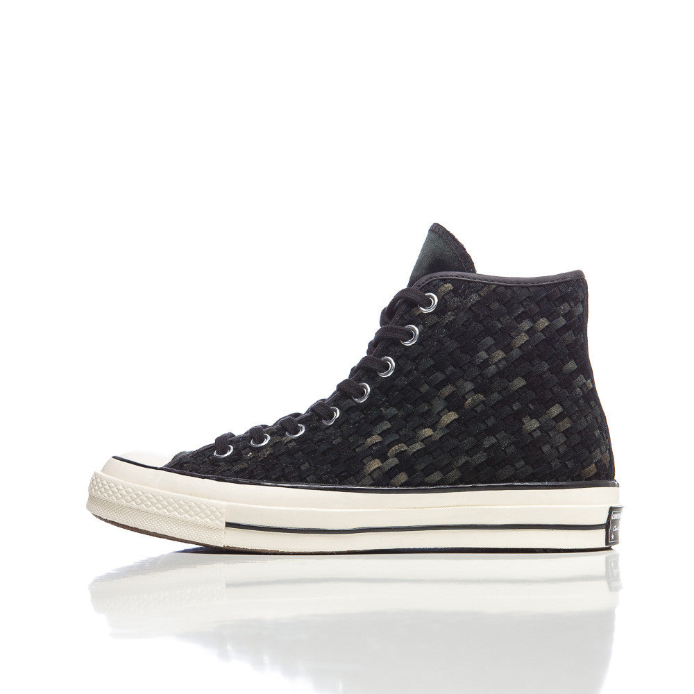 Converse Chuck Taylor All Star '70 Hi in Black Woven Suede Side View