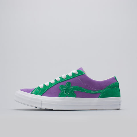Converse x Golf Le Fleur Ox in Purple Heart / Jolly Green - Notre