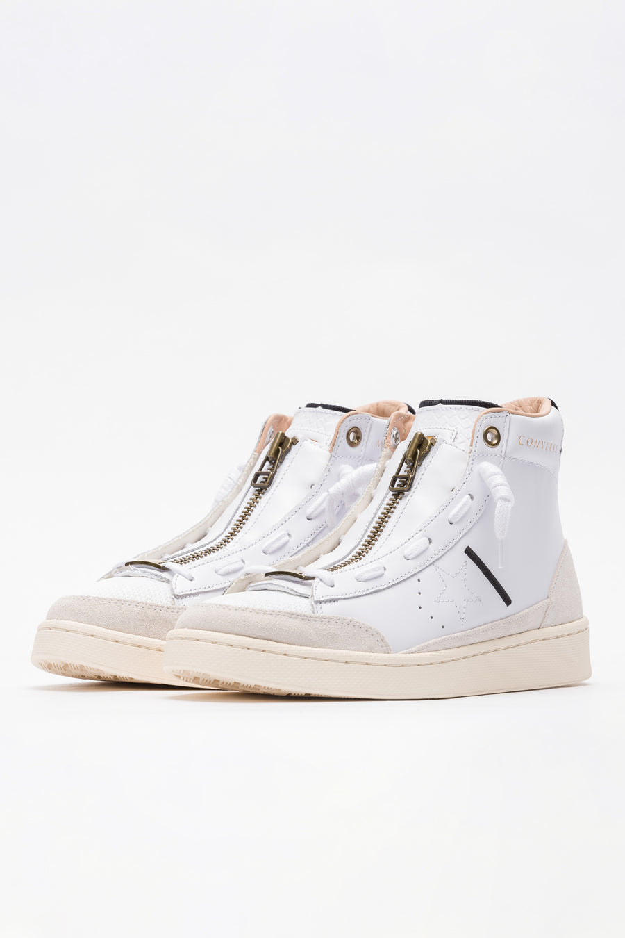 Converse Ibn Jasper Pro Leather Mid in White/Egret/Black - Notre