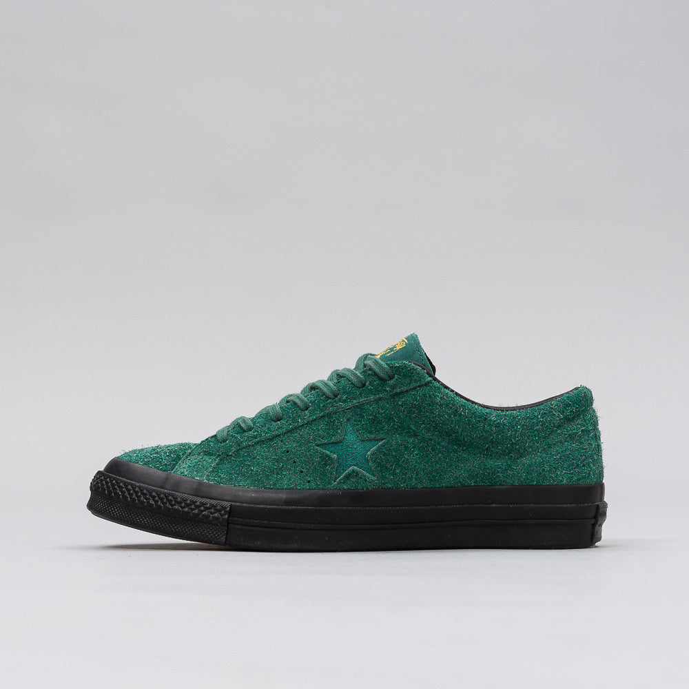 Converse x Stussy One Star 74 Ox in Hunter Green Notre 1