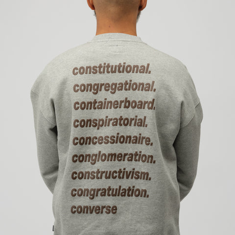 Converse x A$AP Nast Crew Sweatshirt in Heather Grey - Notre
