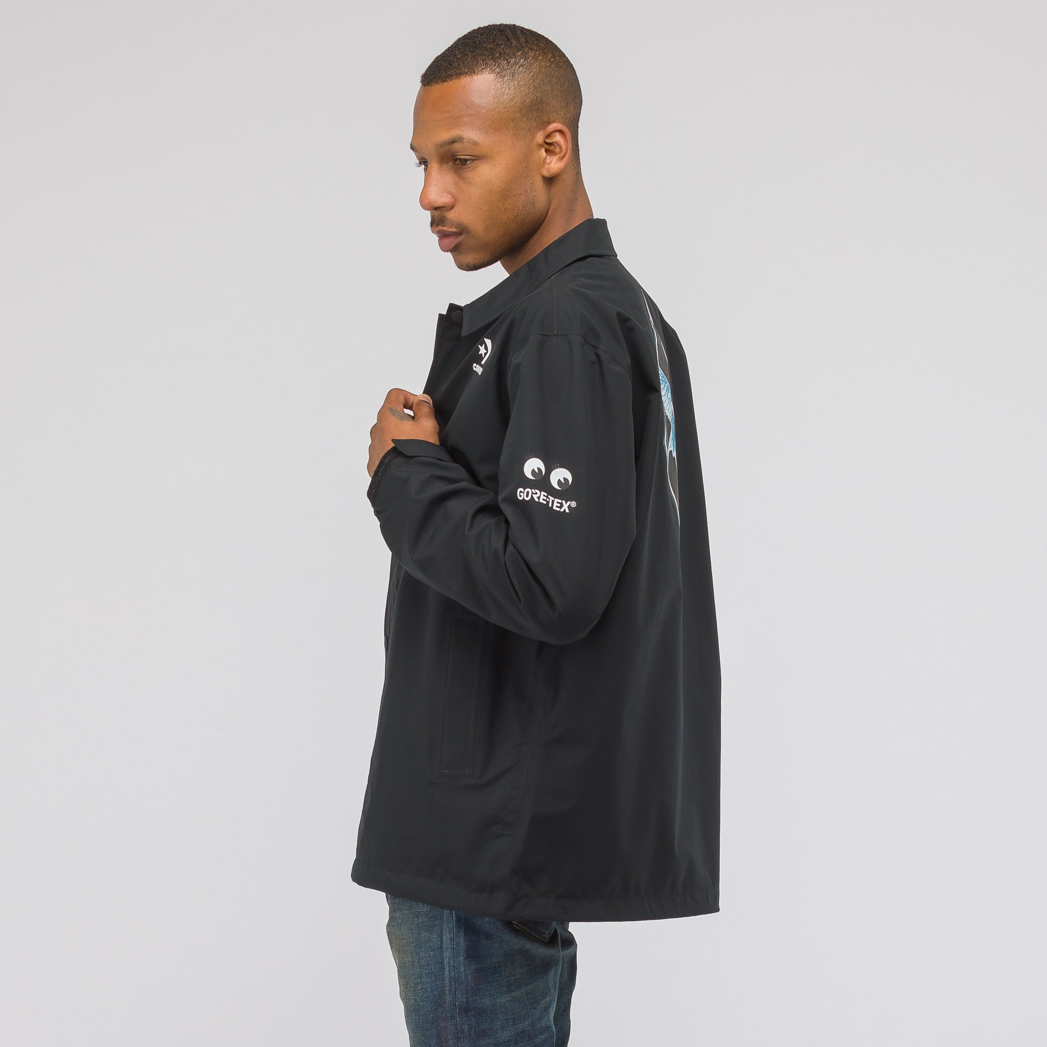 x Dr Woo Goretex Coaches Jacket in Black