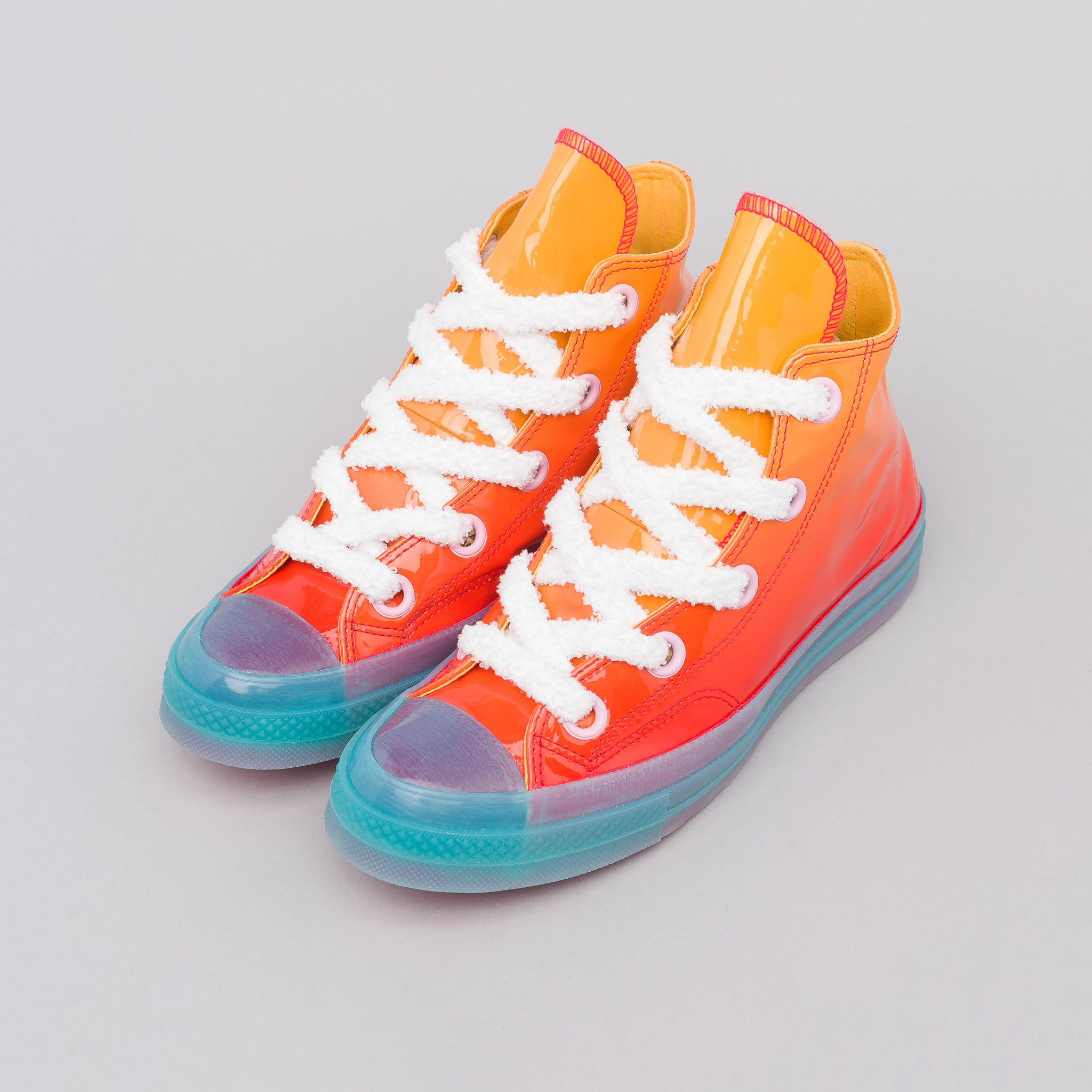 x JW Anderson Chuck 70 Big Eyelets Hi in Kumquat