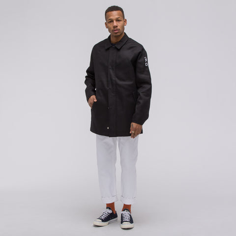 Converse x Patta Coaches Trench Jacket in Black - Notre