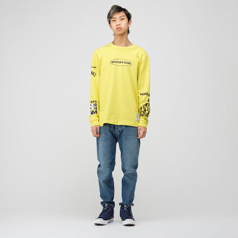 Converse x Perks and Mini Long Sleeve T-Shirt in Green Sheen - Notre