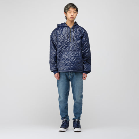 Converse x Perks and Mini Quilted Hoodie in Medieval Blue - Notre