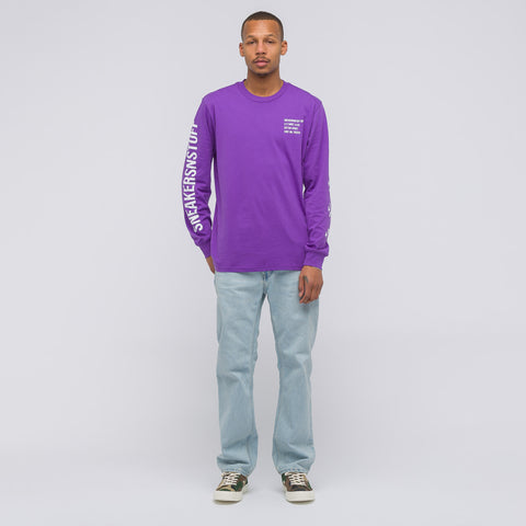 Converse x SNS Long Sleeve Tee in Deep Lavender - Notre