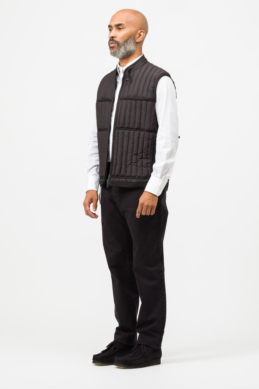 Craig Green Down Filled Worker Vest in Black - Notre