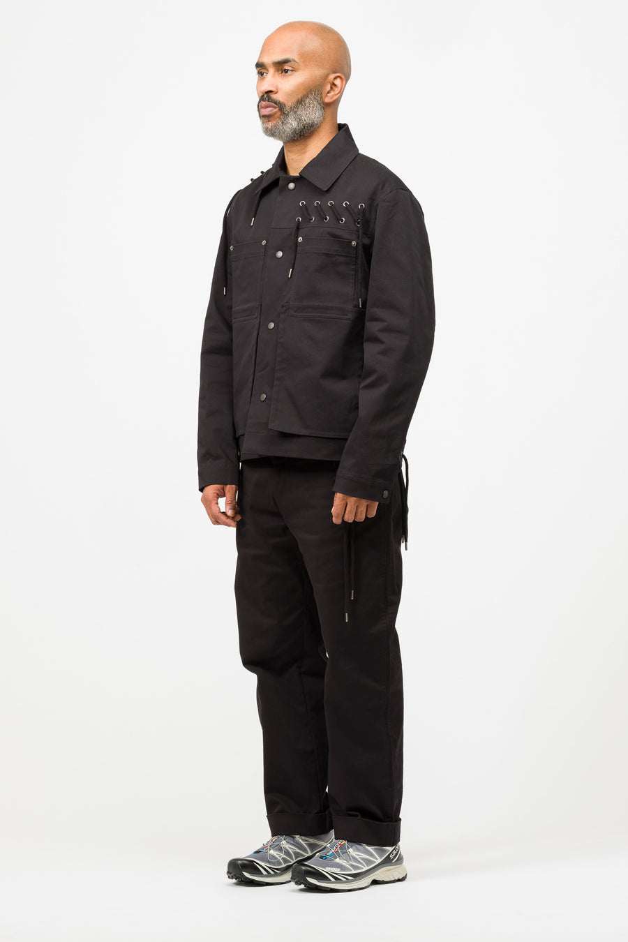 Craig Green Laced Worker Jacket in Black - Notre
