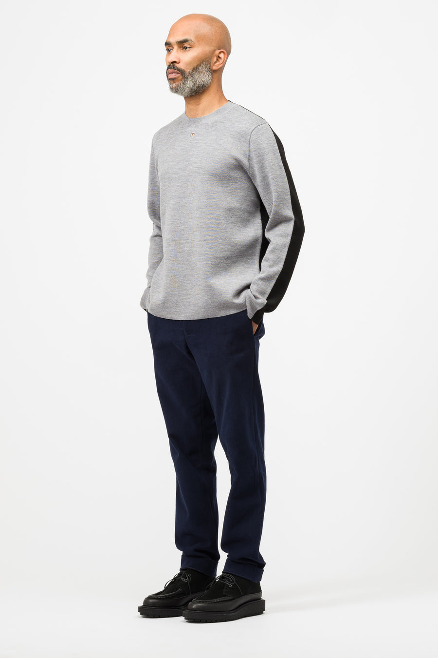 Craig Green Merino Knit Contrast Jumper in Grey - Notre