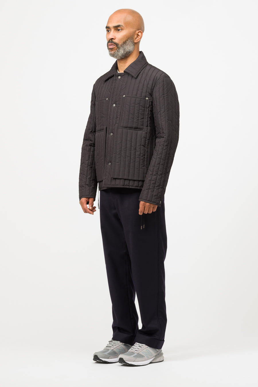 Craig Green Quilted Worker Jacket in Black - Notre