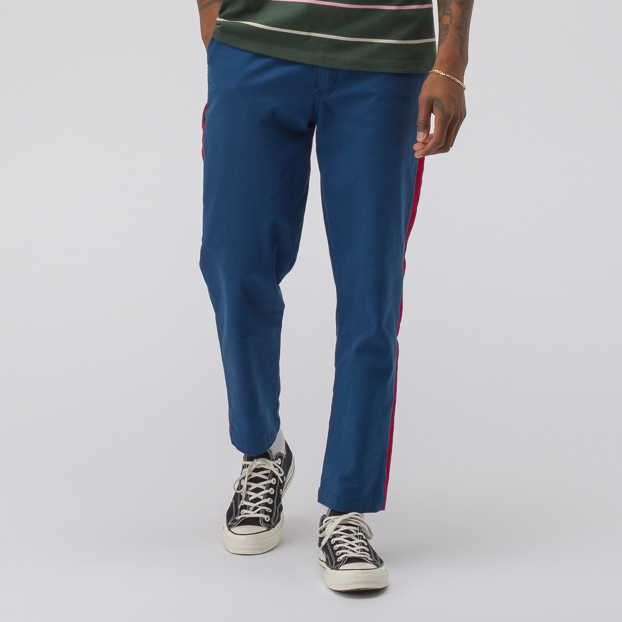 Side Stripe Pants in Airforce Blue