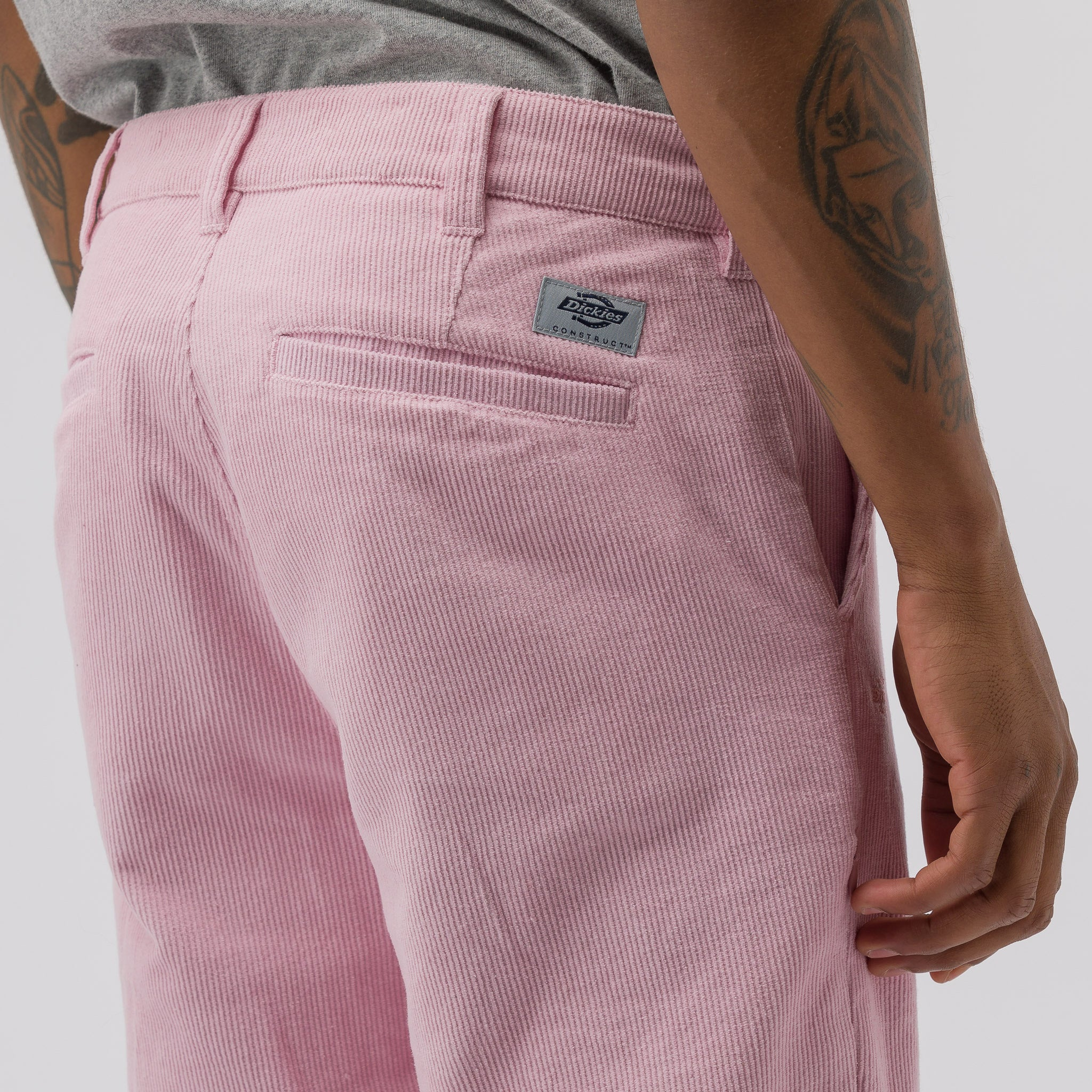 Woven Corduroy Pants in Pink