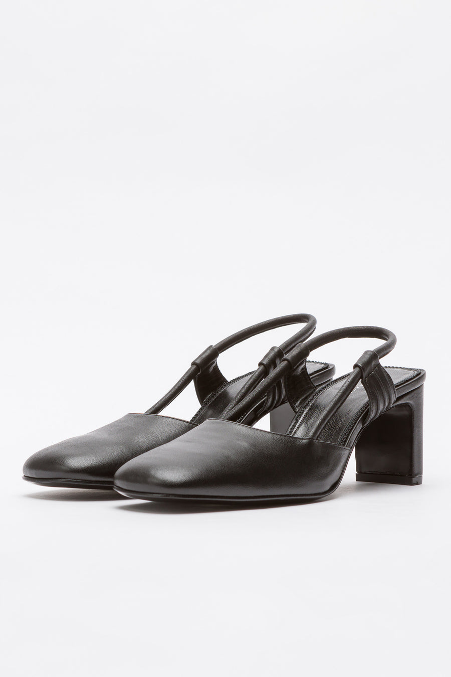 Dorateymur Everyday Slingback in Black Leather - Notre