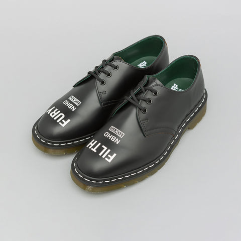 Dr. Martens x Neighborhood 1461 Derby in Black - Notre