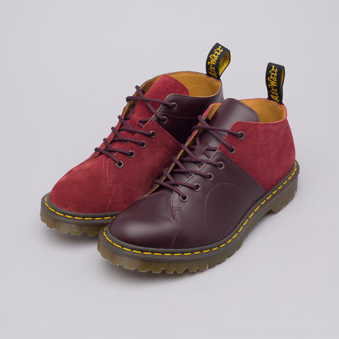 Dr. Martens x Engineered Garments Church Boot Smooth+Rello Calf Suede in Oxblood/Red Earth - Notre